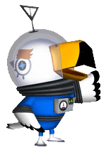 Gulliver l'astronaute, Animal Crossing