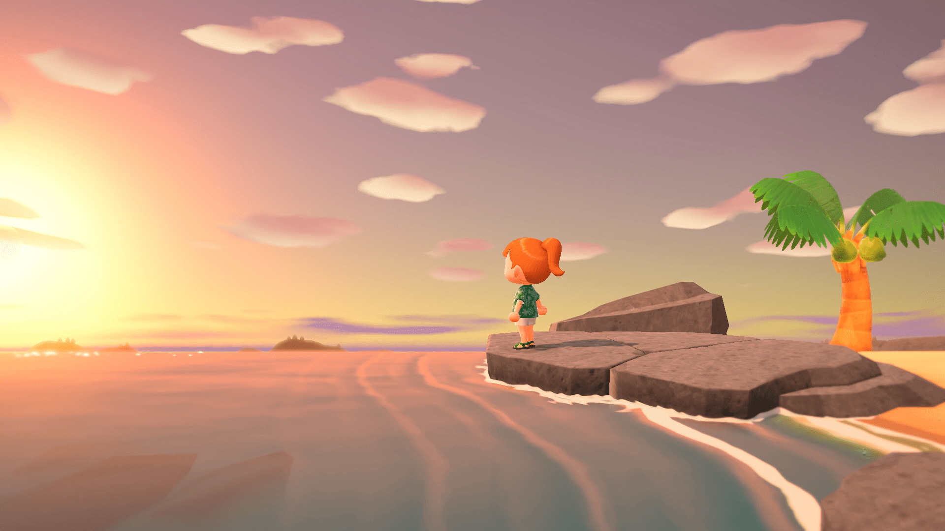 Couché de Soleil, Animal Crossing : New Horizons
