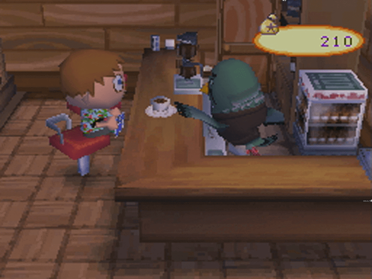 Au Café, Animal Crossing : Wild World